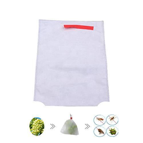 HH-LIFE - Sacchetti di protezione per frutta e verdura, in tessuto non tessuto, con 2 fori, 100 pezzi, 28 x 38 cm