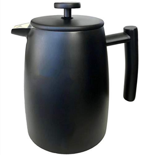 Lwieui Französisch Press Pot Handschiebe-Double-Layer-Edelstahl-Druckbehälter Kaffee-Tee-Maker Cafetier (Farbe : Glass, Size : One Size)