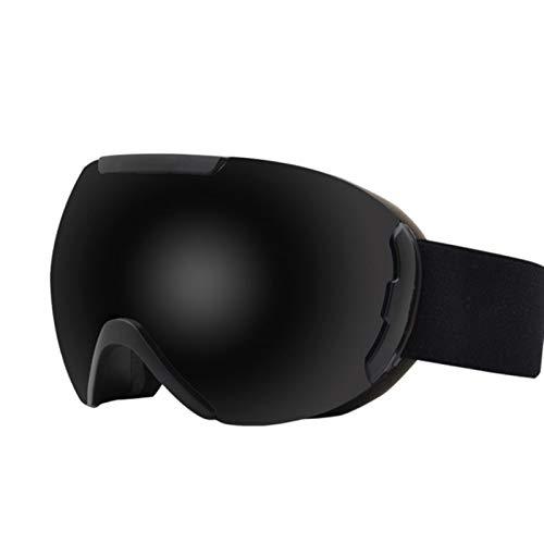 TYHDR Hombres Mujeres Anti-niebla de doble capa Gafas de esquí Lente Máscara de esquí Gafas Esquí Snow Snowboard Gafas Espejo polarizado Gafas
