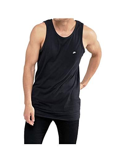 Nike Mens Athletic Sleeveless Tank Black/White 886030-010 Size Small