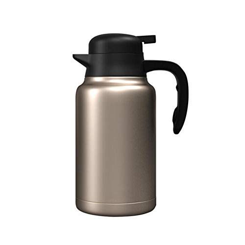 2L thermoskan - 304 roestvrij staal Liner - 24 h bescherming tegen warmte, voor sap/melk/thee/water etc. (Champagne Gold)