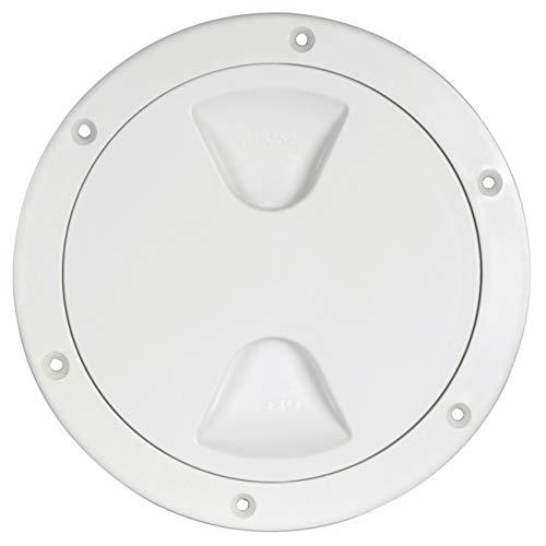Osculati Inspektionsdeckel mit Gewinde und Dichtung, Farbe:weiß, Durchmesser:102mm
