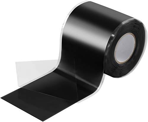 Poppstar - Cinta de silicona de autofusión, 1 x 3 m, ideal como cinta de reparación, cinta aislante y cinta de sellado (estanca, hermética), 50mm de ancho, color negro