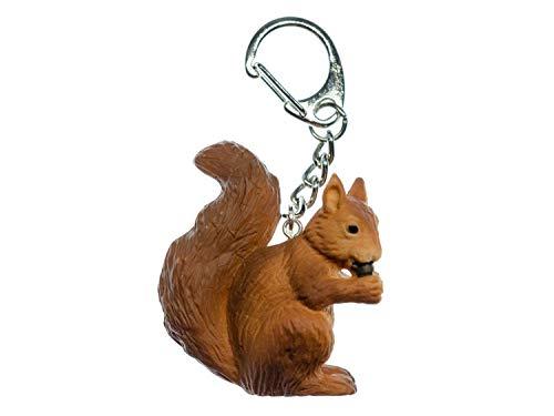 Miniblings Ardilla llaveros Ardilla de Escalada Tierkinder Animales Brown - Hecho a Mano Joyas de Moda I I Colgante Llavero Llavero