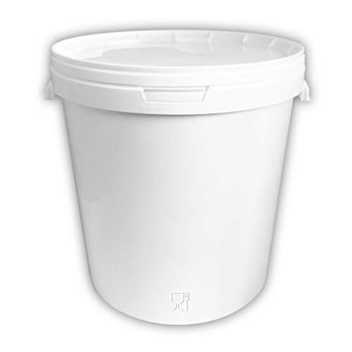 Trevendo® 33 Liter Hobbock mit Deckel, lebensmittelecht