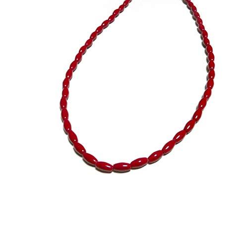 赤 珊瑚 ネックレス 40センチ + 5センチ アジャスター