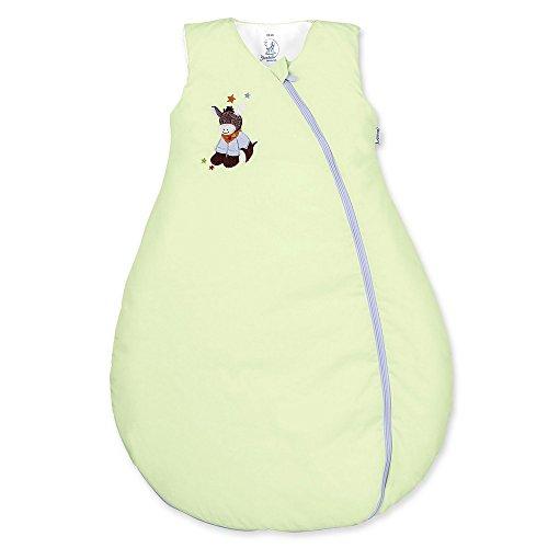 Sterntaler Schlafsack für Kleinkinder, Ganzjährig, Wärmeregulierung, Reißverschluss, Größe: 70, Emmi, Grün