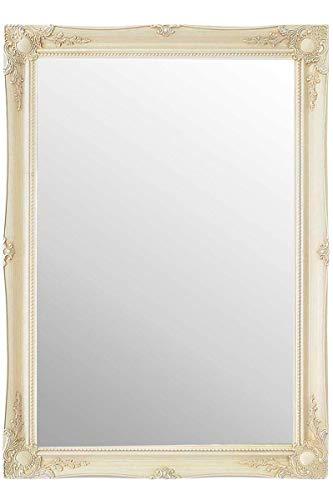 Frames by Post Espejo de Pared Rectangular Cristal de Pilkington, tamaño Extragrande: 77 cm x 107 cm, Color Crema cálido (no un Acabado Envejecido Envejecido)