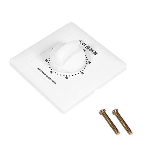 Interruptor temporizador con tornillos de montaje, interruptor temporizador mecánico, herramienta de control de cuenta regresiva de alta conductividad para hacer que las personas(60 min)