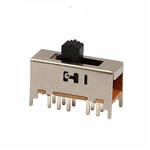 YSJJNDH Basculante Interruptor 10 unids SS-24H01 2P4T Doble Polo Doble Four 4 Posición Interruptor de Diapositiva de 10 Pin Dip Tipo con 4 Alturas de Mango Fijo (Size : G7)