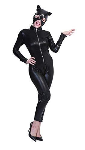 Catwoman Cat Disfraz de Gato Negro - Mujer niña - Sexy - Disfraz - Carnaval - Halloween - Cosplay - Accesorios - Color Negro - Talla XL