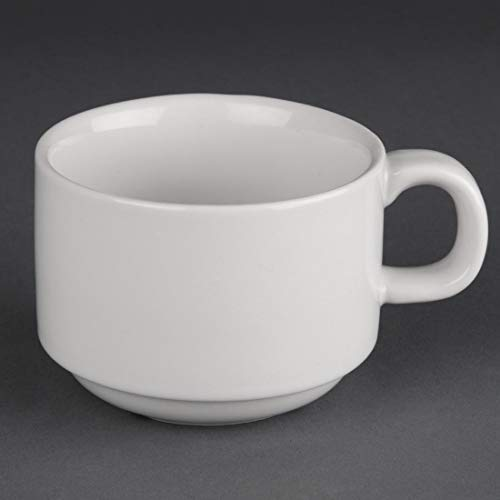 Athena pur cc200 empilable tasse, blanc (Lot de 24)