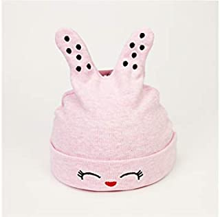 Baby Decoration Hat Baby Dot Ear Autumn Soft Fetal Cap Newborn Hat Infant Hedging Cap for 0-4 Months(Blue) Cute Cap (Color : Pink, Size : Head Circumference)