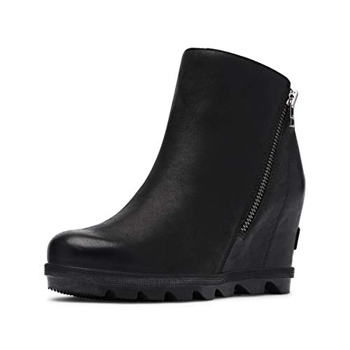 Sorel Women's Joan of Arctic Wedge Boots, Black, 7.5 Medium US