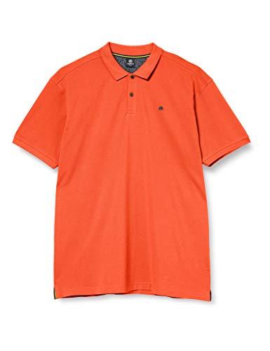 LERROS Herren Polo BTN. Pique Poloshirt, Orange (Strong ORANGE 925), Large (Herstellergröße:L)