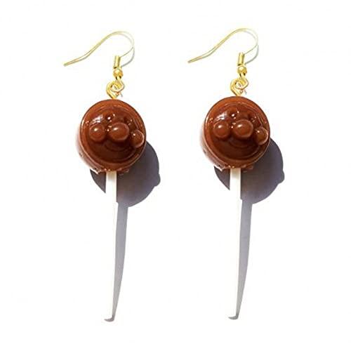 XAOQW Süße Mädchen Marshmallow Ohrringe Damen Harz Lollipop Ohrringe handgefertigte Schmuck Geschenke für Kinder-06