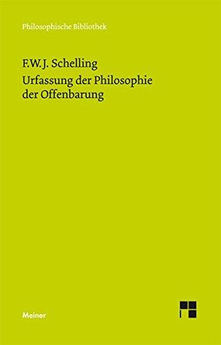 Urfassung der Philosophie der Offenbarung (Philosophische Bibliothek)