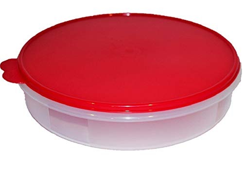 Tupperware 12' Round Pie Keeper Sheer with Red Seal