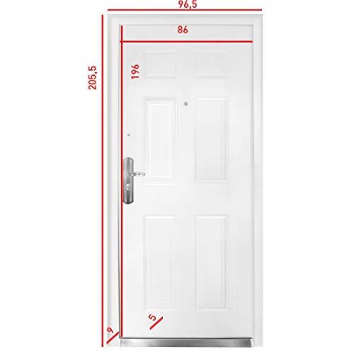 Sicherheitstür HAUSTÜR Wohnungstür Stahltür Wohnungstür linker Anschlag NEU Livingood - Modell 2019, Kellertür, Sicherheit, gibt Einbrechern keine Chance
