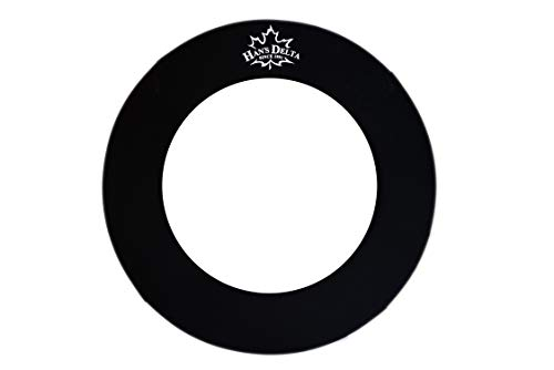 HAN'S DELTA Professional Dartboard Backboard Surround Wall Protector (Black Round)