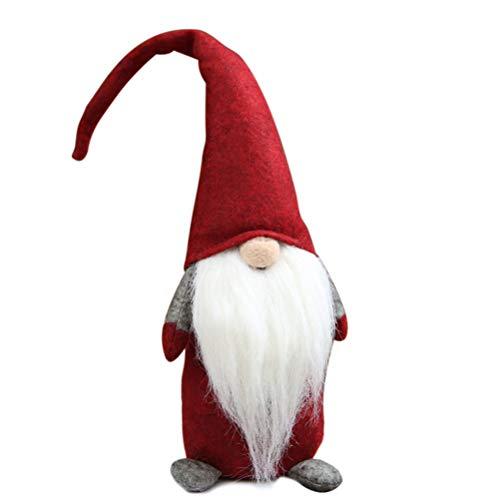 Urisgo Gnomo Jumper Gnomo Di Natale Gnomo Elfo Pupazzo Nano Peluche Bambola Decorazione Festa Di Natale Senza Volto 43 * 10 Cm