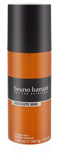 6x Bruno Banani Absolute Man Deodorant Spray maskuliner Duft for men 150ml für Ihn