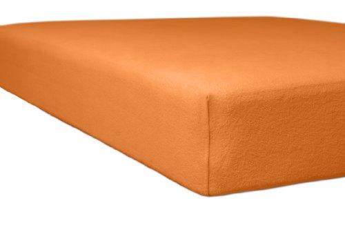 Kneer 8001865 Flausch-Biber Spannbetttuch Qualität 80, 180 x 200 cm - 200 x 200 cm, orange
