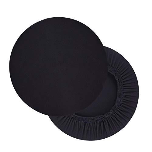 Hengshitong Funda para taburete, redonda, 2 unidades, elástica, redonda, lavable, redonda, color ne