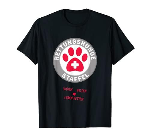Rettungshundestaffel für Einsatzkräfte mit Rettungshund T-Shirt