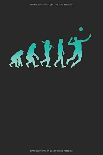 Volleyball Evolution | Notizheft/Schreibheft: Volleyball Notizbuch Mit 120 Gepunkteten Seiten (Dotgrid). Als Geschenk Eine Tolle Idee Für Volleyball Verrückte Oder Profi Volleyballspieler