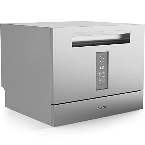 hOmeLabs Digital Countertop Dishwasher with 6 Place Settings - Energy Star Certified with 7 Programs...