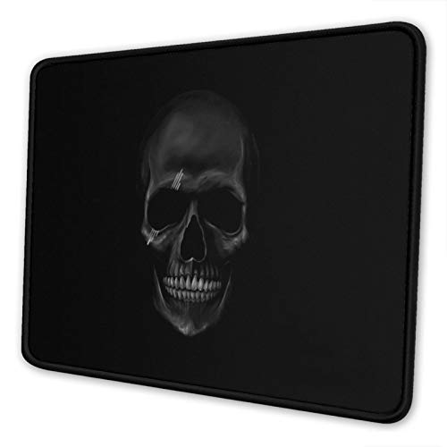 Mouse Pad with Stitched Edges 8.3 x 10.3 in Gaming Mousepad Non-Slip Rubber Base for Laptop - Cool and Horror Design Dark Skull