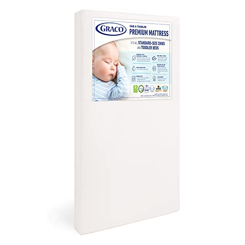 Premium foam crib mattress for toddler by Graco.