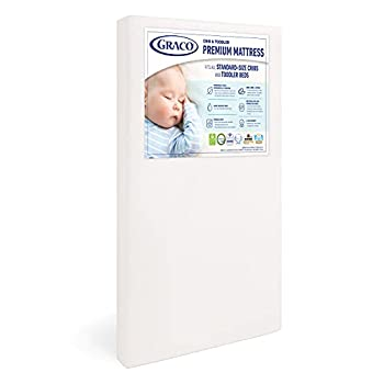 Graco Premium Foam Crib & Toddler Mattress – 2021 Edition GREENGUARD Gold and CertiPUR-US Certified 100% Machine Washable Breathable Water-Resistant Cover Ideal Firmness for Infants