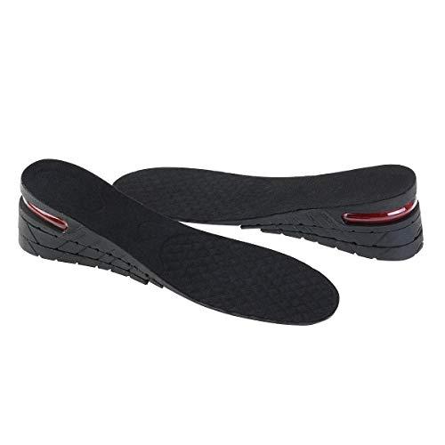 ROSENICE Plantillas Elevadora Aumenta Altura Plantillas Alzas De Zapato Adecuado para Hombres y Mujeres 6CM (Negro)