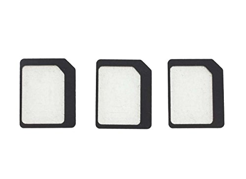 3枚売り NanoSIM ナノSIM を MicroSIM マイクロSIM に変換アダプター スマホ iPhone iPad iPadMini スマホ