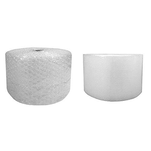 "AmazonBasics Perforated Bubble Cushioning Wrap - Medium 5/16"", 12-Inch x 100-Foot Long Roll & Perforated Bubble Cushioning Wrap - Small 3/16"", 12-Inch x 175-Foot Long Roll"