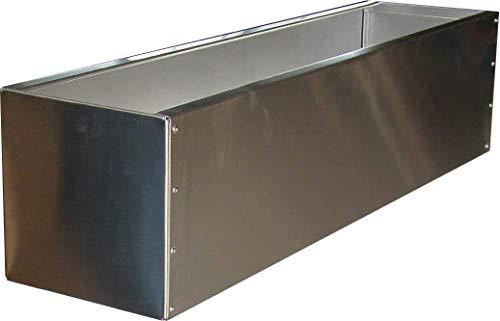 WMT Macetero de acero inoxidable, 20 x 20 x 80 cm (acero inoxidable)