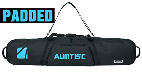AUMTISC Snowboard Bag Padded for Travel Bag with Storage Compartments Shoulder Strap and Gear Pockets Available Length in 165cm Blue