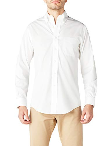 Brooks Brothers - Dress Non-Iron Botton Down Regent, Camicia da uomo, bianco (white 84), 43 (collo in. 17 manica in. 35)