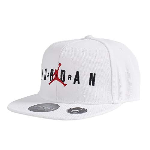 Boys Grade School Jumpman Snapback Adjustable Cap Hat One Size (White)