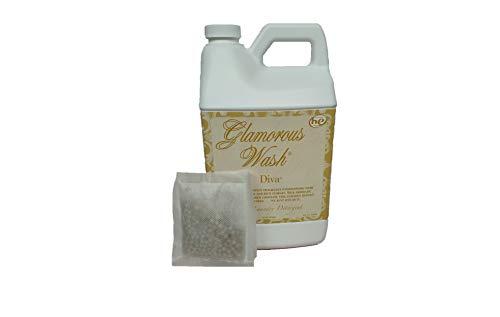 Tyler Candle Glamorous Wash Diva Half Gallon (64 OZ) Laundry Detergent/with Glamorous Sachet Single Pouch
