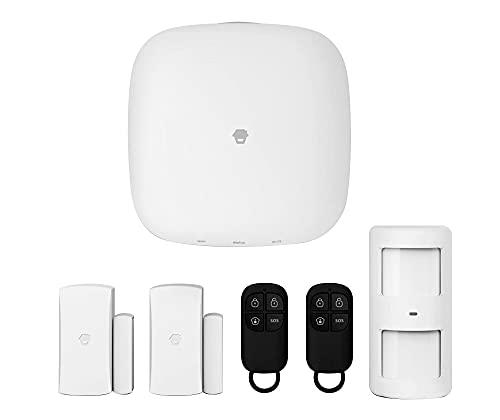 Chuango Sistema de Alarma Inteligente Wifi/4G LTE-400 - Sensores Movimiento Puertas/Ventanas - Alarma Antirrobo Inalámbrica con Sirena - Sistema de Seguridad para Casa - Hubs y Sensores Inteligentes