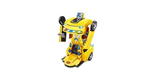 Carro Robô Warriors bate e volta Amarelo Zoop Toys