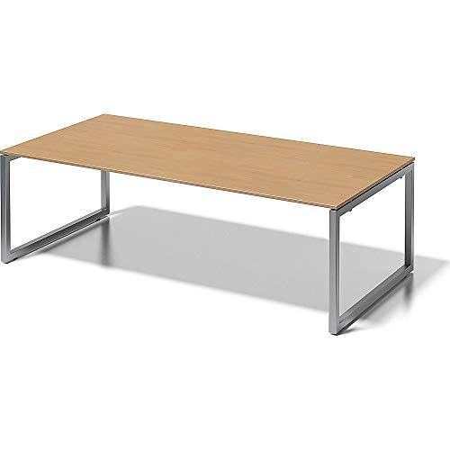 BISLEY Cito Chefarbeitsplatz/Konferenztisch, 740 mm höhenfixes O, H 19 x B 2400 x T 1200 mm, Metall, Bc355 Dekor Buche, Gestell Silber, 120 x 240 x...