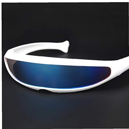 Lunettes de soleil UV400 Cyclope Affinez personnalité Mirrored Objectif Costume Lunettes Lunettes Parti Novelty Décoration pour hommes et femmes