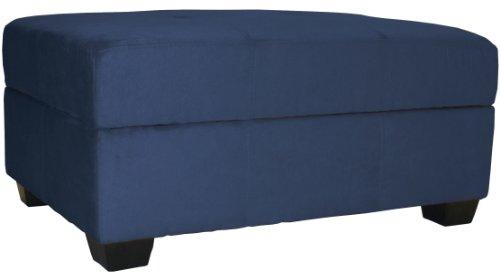 36 by 24 by 18-Inch Storage Ottoman Bench, Dark Blue