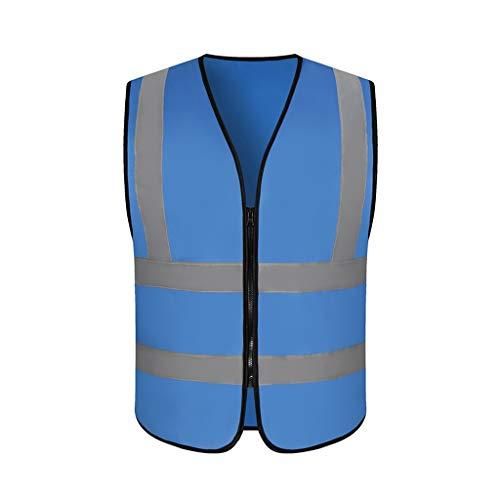 Reflecterende veiligheidsvest licht en ademend werk kleding reizen 's nachts veiligheid hoge zichtbaarheid vest Donkerblauw