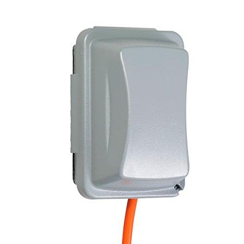TayMac – Funda impermeable para receptáculo para exteriores, 2 – 2/3 pulgadas de profundidad, Gris,…