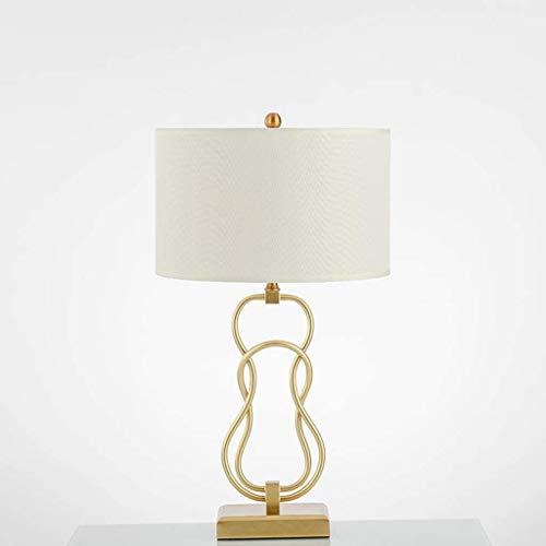 NXYJD Luz del Escritorio de la decoración de la creación contemporánea Moderna de la Cama de la lámpara LED de la Tela por la Sala Foyer Sitio de la Cama del Hotel lámpara de Mesa